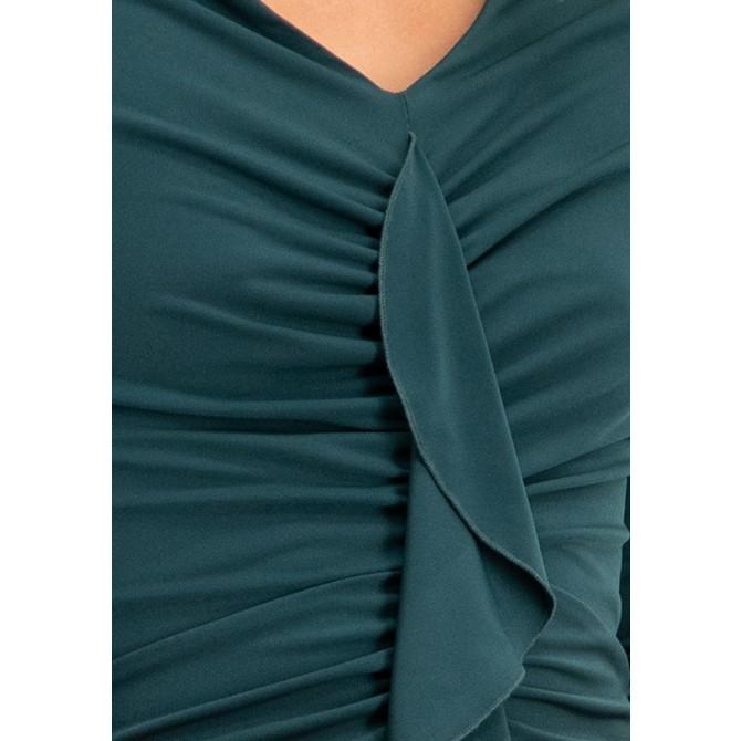 Elastisches Kleid NIDALMA mit romantischen Volants /