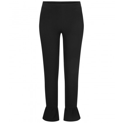 NICOWA - NILLIDE cropped trousers with flounce details /