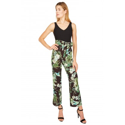 NICOWA - Fashionable jumpsuit CORSOLA with a stylish jungle pattern /