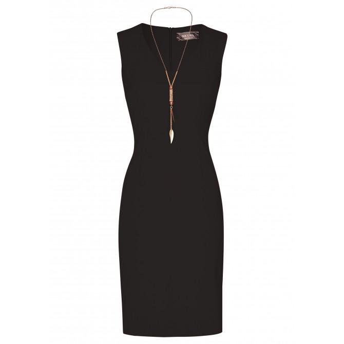 NICOWA – Elegantes, zeitloses Kleid LOUISA mit goldener Kette /
