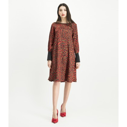 NABITA dress with trendy leopard print /