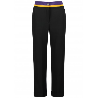 Trendy pants AFLORIDE with contrasting waistband /