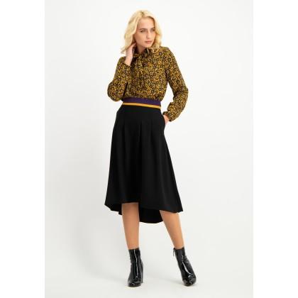 Classy skirt OFIORISA with asymmetric hem /