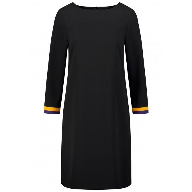 Bezauberndes Kleid AFIORE mit kontrastierenden Ärmelenden /