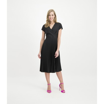 ADIANA midi dress with pleated skirt /