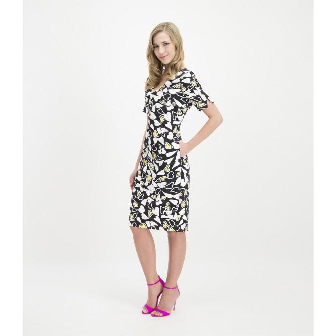 Midi-Kleid CLEOIWA mit liebevollem Herzmuster /