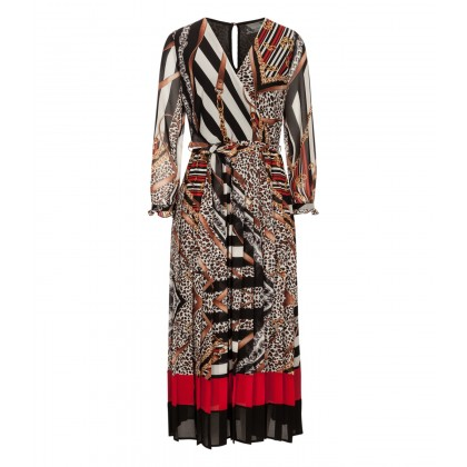 Patterned NIGEA dress in wrap look /