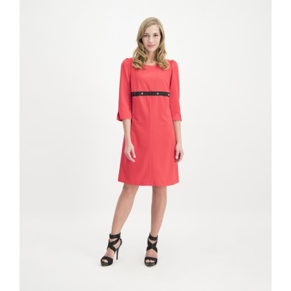 Slim COLOANA dress with studded trim /