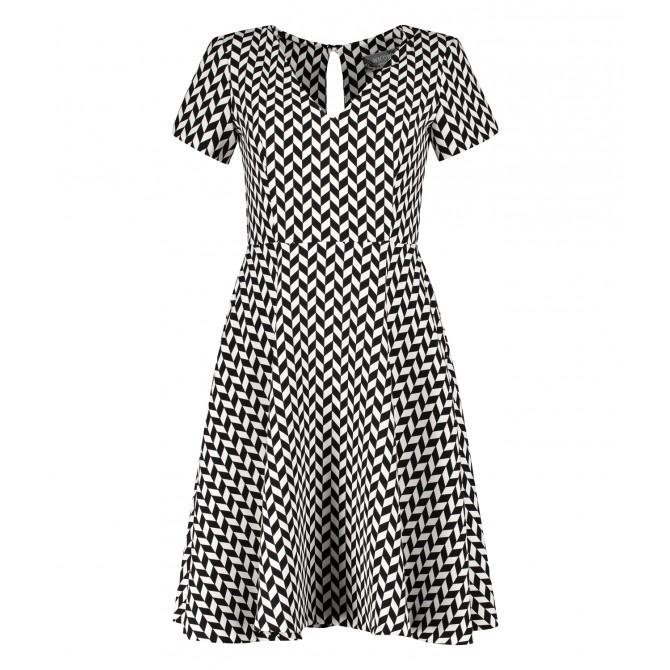 Kleid NINIWA mit stilvollem Allover-Design /
