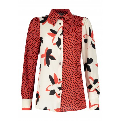 Fashionable PIACOWA patterned blouse /