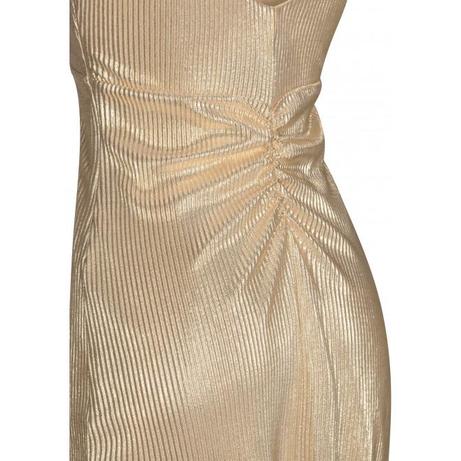 Elegantes Abendkleid ALISELA mit metalischer Optik /