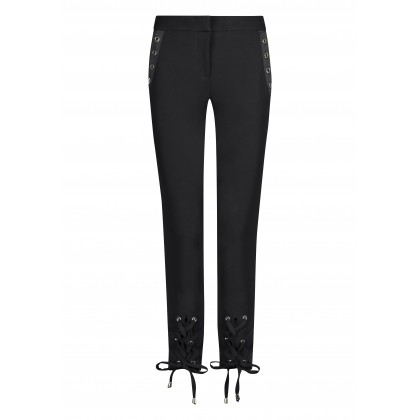 ADERICA cropped trousers with sophisticated details /
