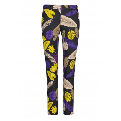 NIETTA trousers with tropical pattern /