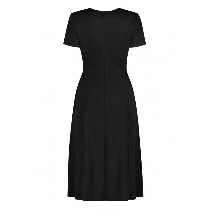 Ausgestelltes Kleid ANICEN mit raffinierter Taille /