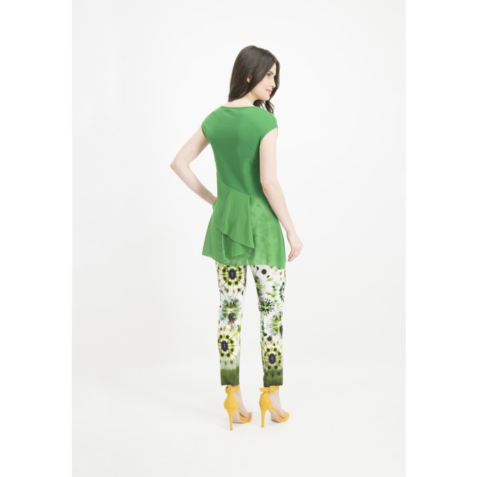 Stilvolles Top WERIDA mit Volants-Details /