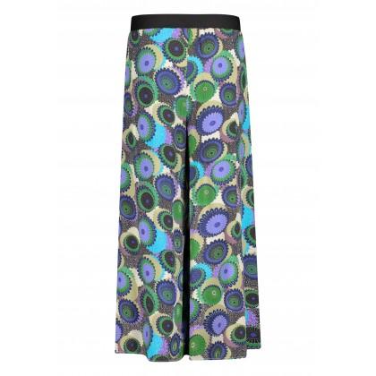 Wide cut WEA trousers with slit leg /