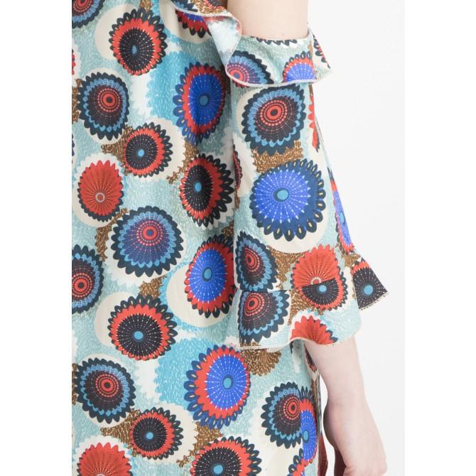 Sommerliche Bluse NEDERO mit Allover-Muster /
