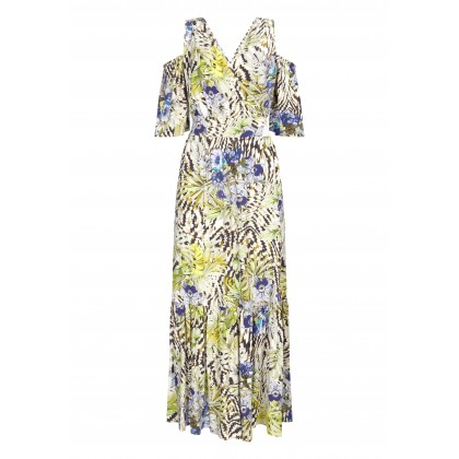Summer NERMILIA maxi dress with floral pattern /