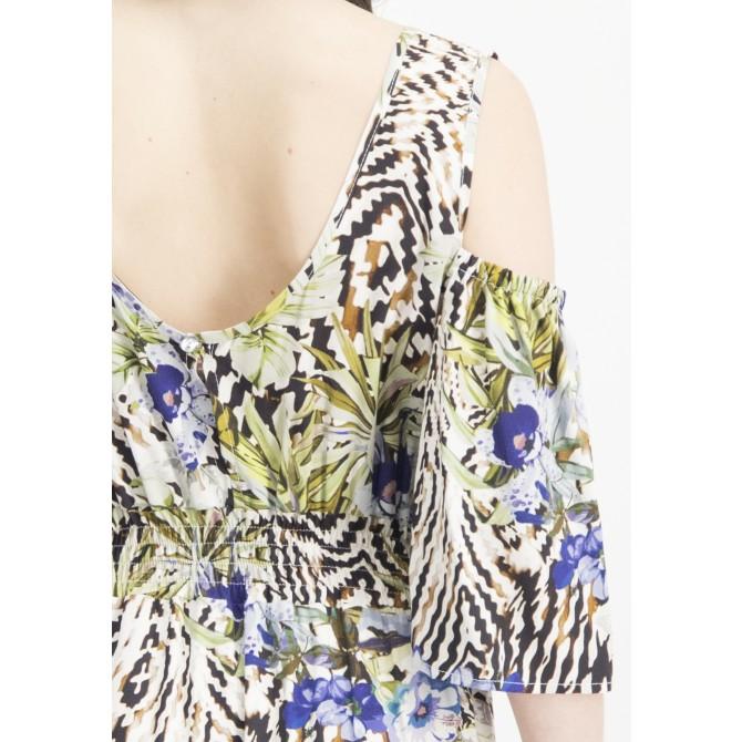 Sommerliches Maxikleid NERMILIA  mit floralem Muster /