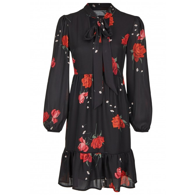 Verspieltes Mini-Kleid mit langen Ärmeln - RONOSA /