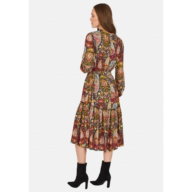 Knielanges Kleid mit Paisley-Muster - NICELO /