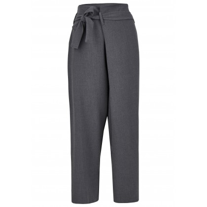 7/8-length culottes with tie belt - GRIGINO /