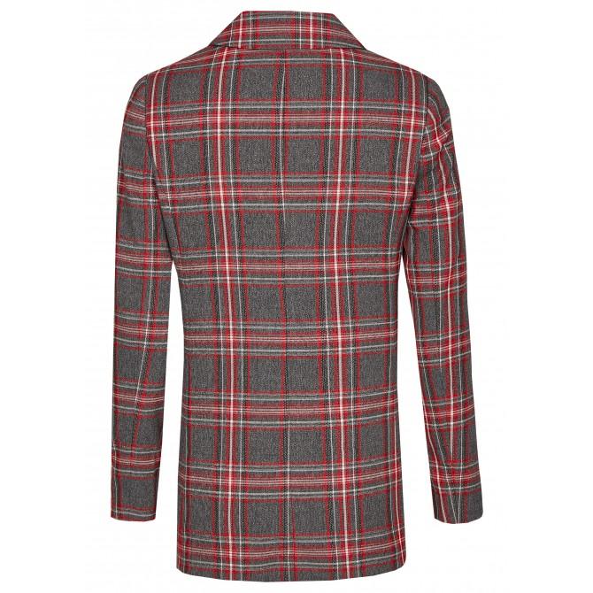 Long-Blazer mit breitem Reverskragen – BEGONIWA /