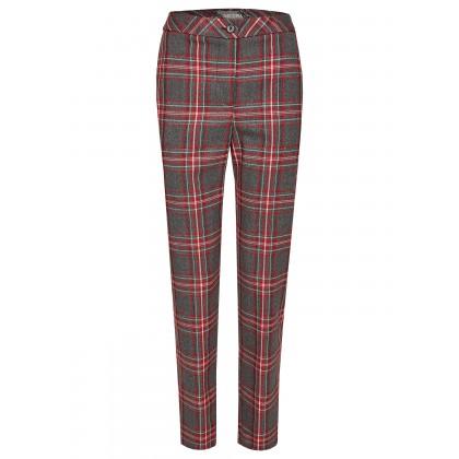 Long trousers with tartan pattern – MIKOLA /