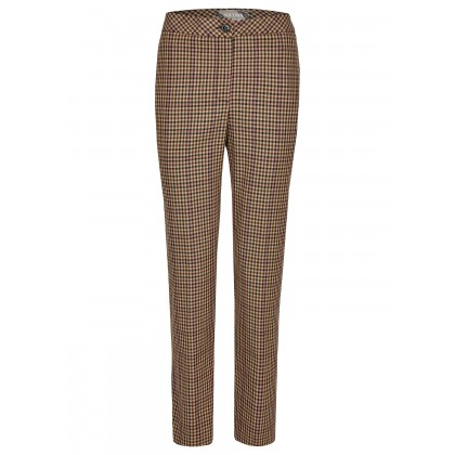 Long trousers with border tartan pattern and stripes – MIKOLA /