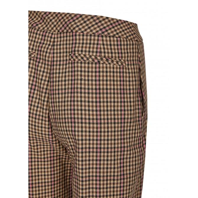 Lange Hose mit Pepita-Muster und Streifen – MIKOLA /