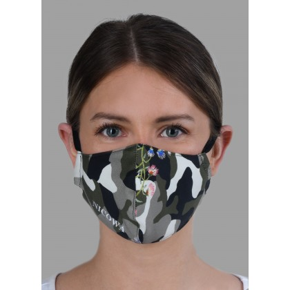 Premium cotton protective mask with logo embroidery /