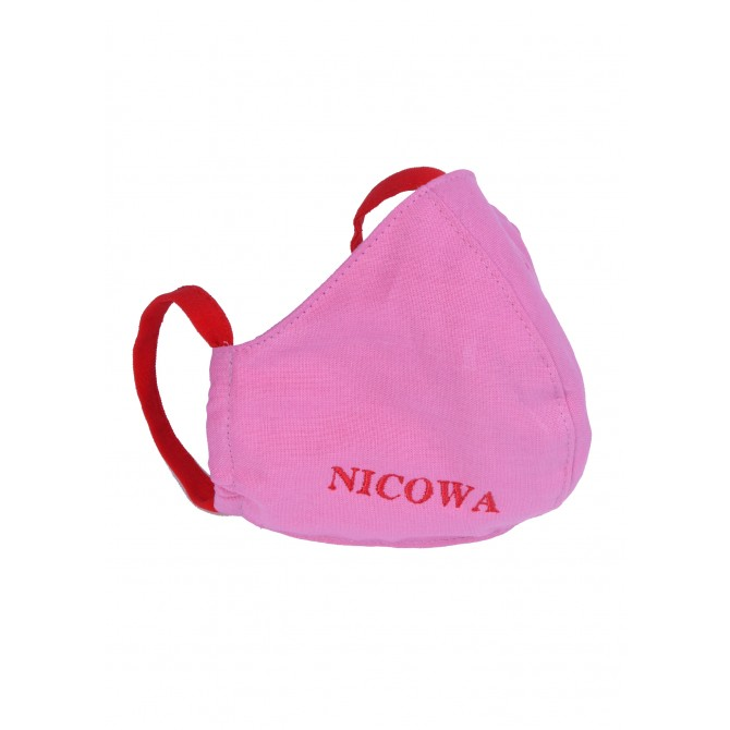 Premium Baumwoll-Schutzmaske mit Logo-Stickerei /
