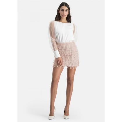Skirt with glitter thread – NIOVE /
