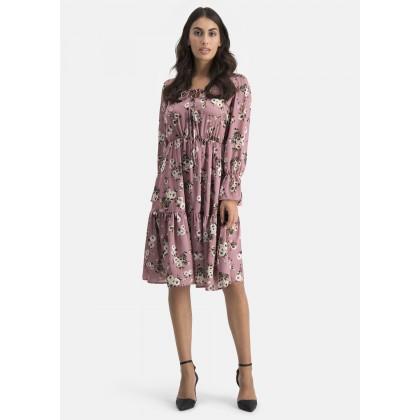 Kleid mit Volants – COMANA /