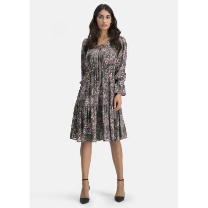 Kleid mit Bindebändchen – COMANA /