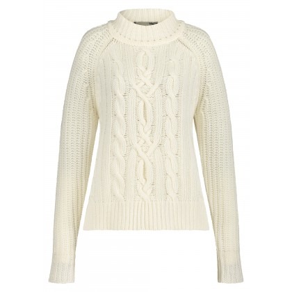 Plain-coloured chunky knit jumper – SANBETA /